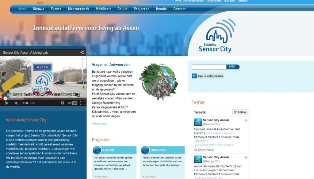 Homepage Sensor City