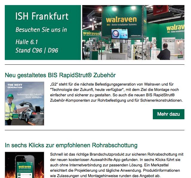Newsletter Walraven Germany